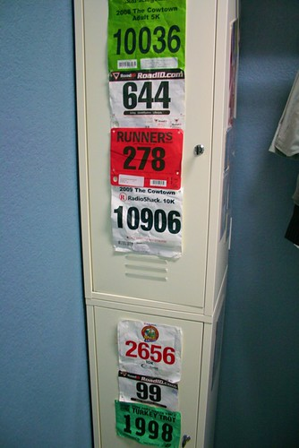 My Collection of Race Bibs