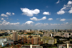 Toa Payoh Heartland & Beyond (ChildLight) Tags: blue sky white clouds singapore lego blocks hdb toa bishan payoh