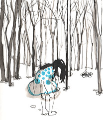bosque (pintaycolorea) Tags: winter paris love fashion illustration forest pintaycolorea pato