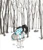 bosque (pintaycolorea) Tags: winter paris love fashion illustration forest pintaycolorea pato™