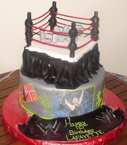 Incredible Fondant Custom Wwe Wrestling Ring Birthday Cake A Photo On Personalised Birthday Cards Paralily Jamesorg