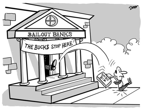 bailout bank cartoon