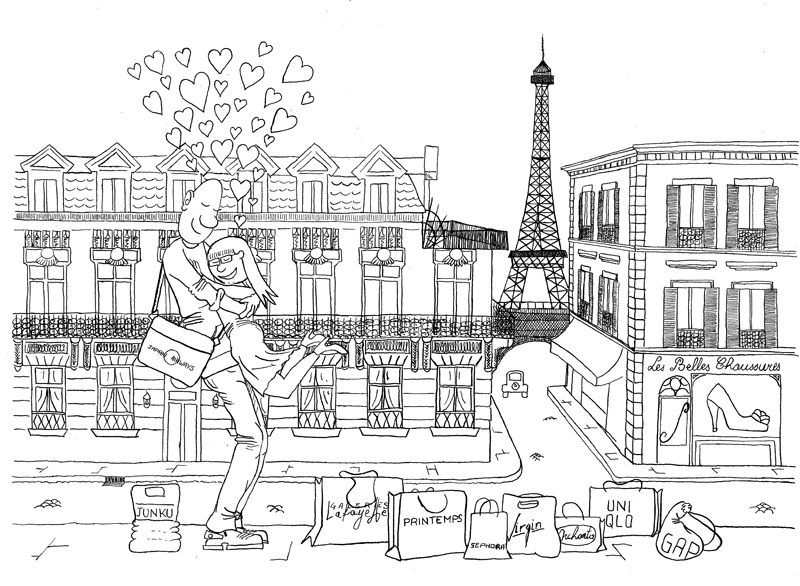 Monsieur Tout-le-Monde et Celle qu'il Aime à Paris
