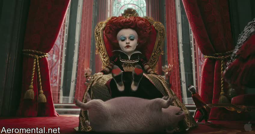Alice in Wonderland red queen pig
