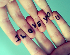 I Love You ({peace&love}) Tags: boy cute green love girl writing hands y you o teal text fingers v e u l romantic pinkparis1233