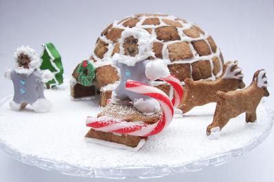 raspberri cupcakes: Gingerbread Igloo - Daring Bakers Dec 2009