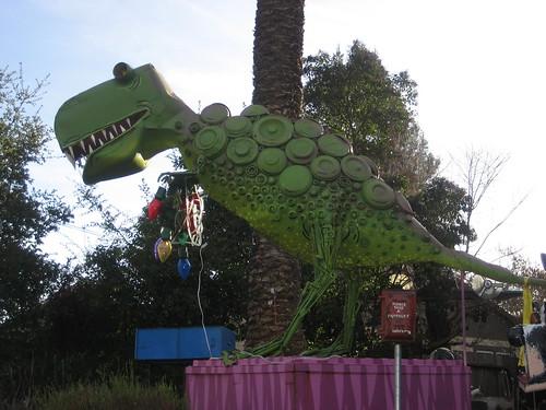 Dinosaur in the artist's yard
