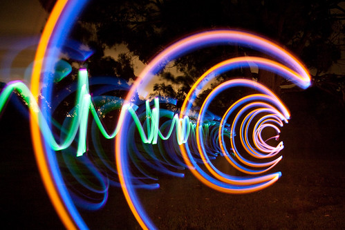 Light painting with glowsticks, lasers and sparkers (07)