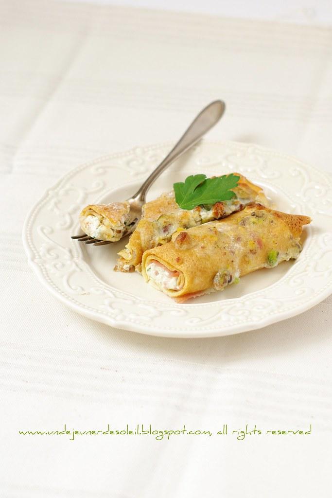 Cannelloni de crêpes à la mortadella