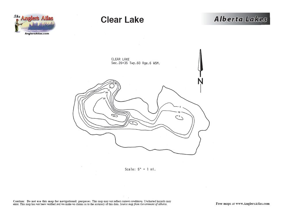 clear lake alberta map Underwater Map Of Clear Lake Alberta Outdoorsmen Forum clear lake alberta map