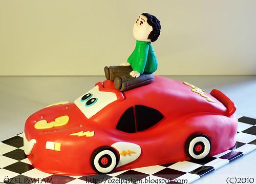 Mehmethan'ın Şimşek McQueen Pastası