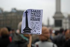 Mass photo gathering Trafalgar Square. (maggie jones.) Tags: london square rally protest trafalgar mass imaphotograpernotaterrorist trafsqprotest