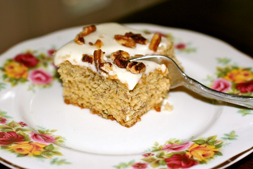 Roasted Banana Bars with Browned Butter Pecan Frosting