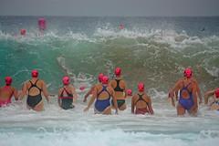 Warriewood- Mona Vale (Brigitte Marlot) Tags: ocean summer people beach water race swim seaside wave australia swimmer swimmers monavale oceanswim warriewoodmonavale