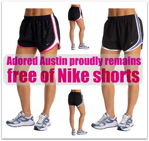 no nike shorts!