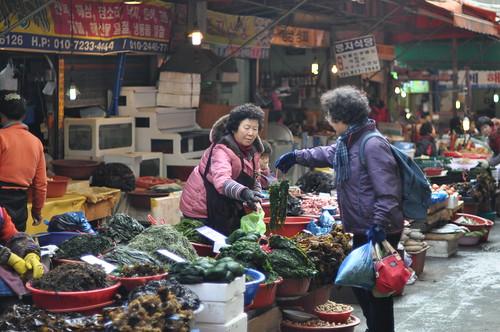 Mercado en Pusan