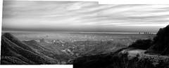 Untitled_Panorama1 (Archie Tucker) Tags: park venice blackandwhite bw losangeles santamonica hollywood venicebeach monochrom griffithpark griffith westcoast bnw hollywoodhills