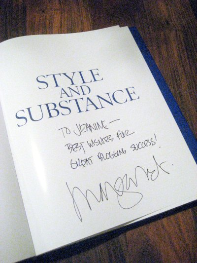Signed copy of Elle Decor Style and Substance 3