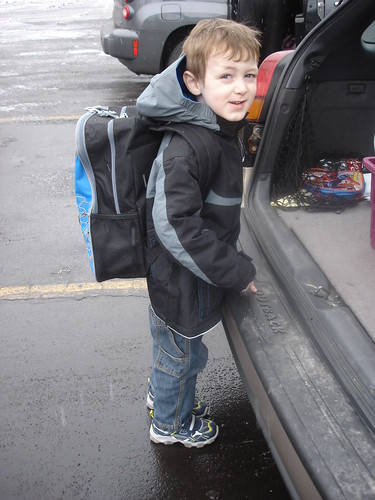 new coat, new backpack, new shoes