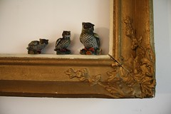 what a hoot (wolvessss) Tags: gold photo antique kitsch thrift frame owl porcelain trinket opshop owels vintate