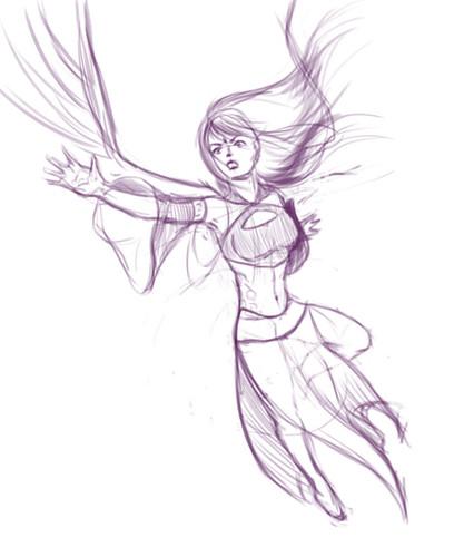 concept sketch angel