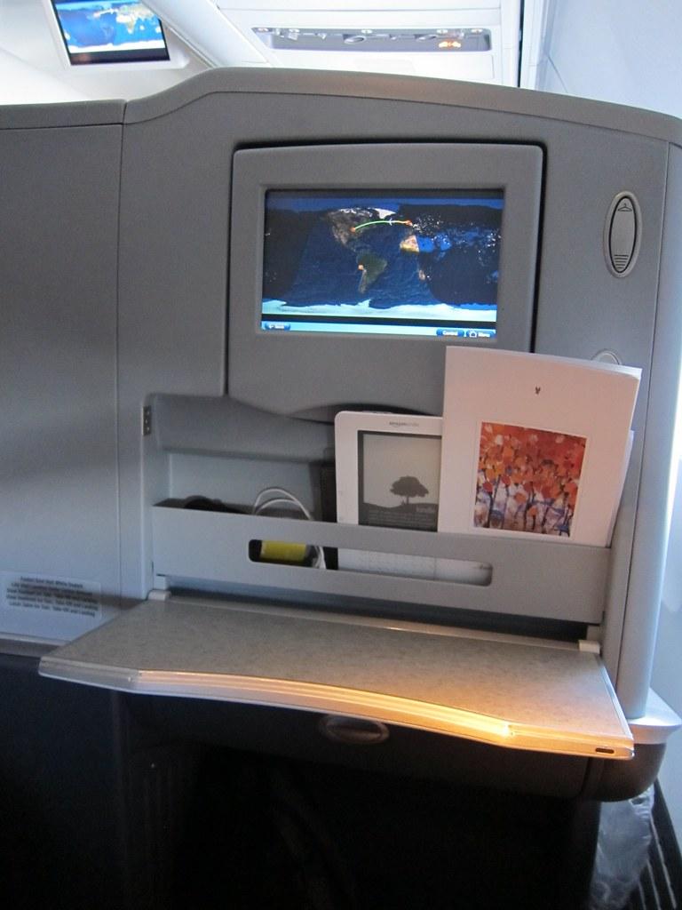 AA's new 757 Business Class seatback