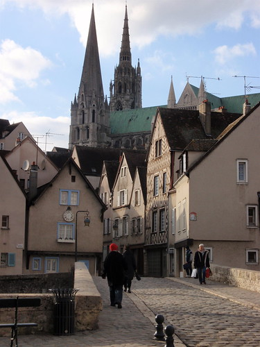 Chartres - old town and Cathedral