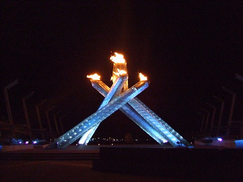 Vancouver 2010 Olympic Cauldron at Night
