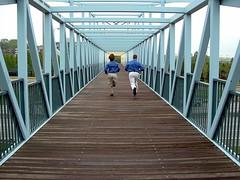 We'll Make It (Caleb T Sommerville) Tags: bridge minnesota stpaul fast running teamwork converginglines