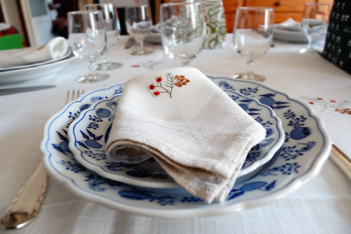 table setting, napkin