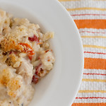 Chicken and Orzo with Goat Cheese