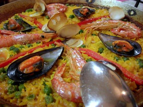 Seafood paella in Barcelona
