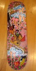 all decked out. my board for the deckadent dutchess show on friday, march12th. (psychosurplus) Tags: erin pilsen rembert mahaloclub deckadentdutchess chicago54bgallery