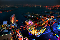 Yokohama Tilt Shift (Sprengben [why not get a friend]) Tags: city wedding summer sky urban music art japan clouds skyscraper observation toys japanese tokyo bay harbor amazing nikon shinjuku asia waves ship artistic gorgeous awesome watch elevator style divine international stunning ferriswheel tokyotower metropolis roppongi odaiba yokohama charming foreign fabulous gundam hdr landmarktower shushi rainbowbridge hiyoshi niijima tiltshift engaging travelphotography d90 keiouniversity photomatix shibuja travellight d3s spielzeuglandschaft sprengben nationalgovernmentbuilding wwwflickrcomphotossprengben fatherofshushi osanbashipeer worldporter