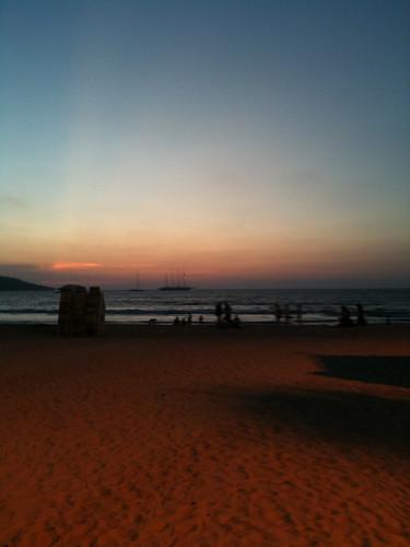 Sun sets over Phuket