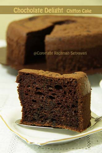 Chocolate Delight Chiffon Cake