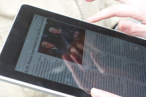 New York Times app on iPad at launch at by Steve Rhodes, on Flickr
