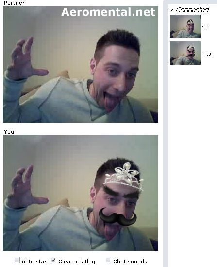 Chatroulette Princess with mustache