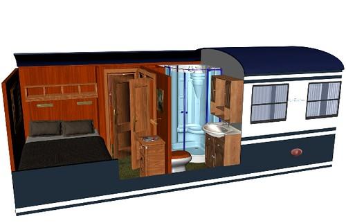 El Transcantábrico Clásico  - Double Clásica cabin plan