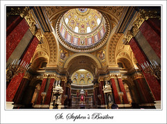 Hungary - Budapest - St. Stephen's Basilica (Lo Scorpione) Tags: light red church yellow gold hungary interior basilica postcard budapest cupola dome column ststephen magyarorszg ststephensbasilica sigma1020mm szentistvn szentistvnbazilika