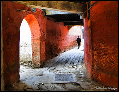 The Old City of Meknes ! (Bashar Shglila) Tags: lighting old city red art alone morocco maroc marruecos islamic meknes   mequinez   mekns       thepowerofnow mygearandmepremium mygearandmebronze mygearandmesilver mygearandmegold mygearandmeplatinum mygearandmediamond
