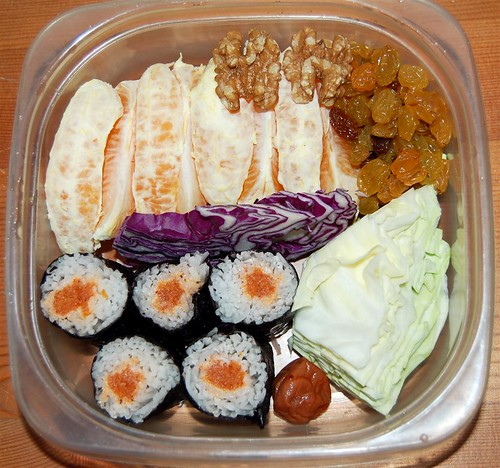 Travel raw bento