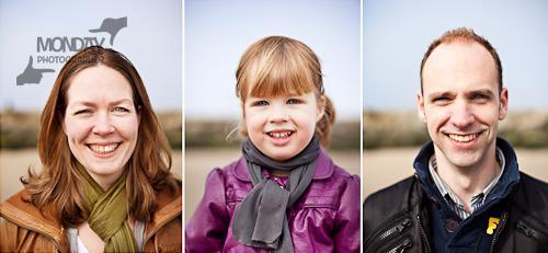 portretten op het strand