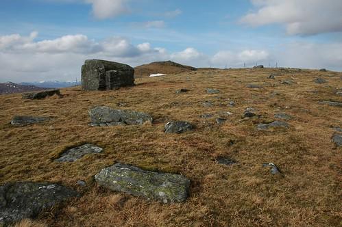 Summit ridge of Beinn nan Oighreagh
