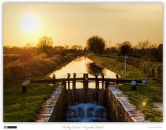 Sunset at the 14th Lock (bbusschots) Tags: ireland sunset orange reflection evening canal lock 1001nights maynooth hdr topaz kildare royalcanal hew photomatix tonemapped tthdr flickraward topazadjust historicalengineeringworks