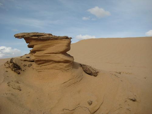 Работа ветра и песка