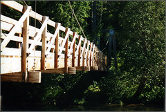 Suspension Bridge (joeldinda) Tags: bridge up michigan upperpeninsula joeldinda northcountrytrail baltimoreriver ohkundekunfalls