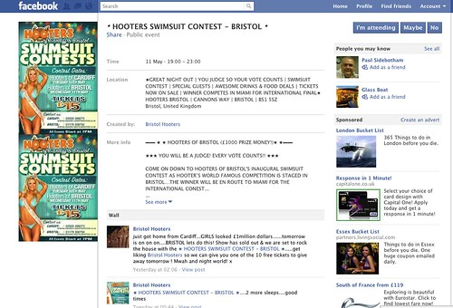 Hooters Bikini Contest FB page