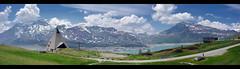 Moncenisio Landscape (Guido [Torino, ITA]) Tags: macro montagne cool nice pano hill chiesa moto photomerge fiori curve paesaggi piramide landascape formiche moncenisio moncenis panotool