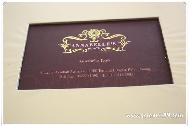 Annabelle's Place @ Tanjung Bungah - Menu